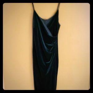 Fashion nova dark green maxi dress
